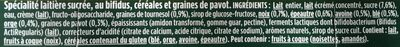 Activia bifidus cereales graines de pavot - Ingrédients