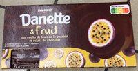 Danette & fruit sur coulis fruit de la passion et éclats de chocolat - Produit - fr