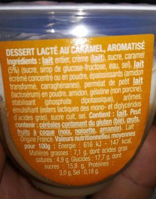 Le liégeois caramel - Ingrédients - fr