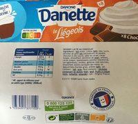 Danette le liégeois chocolat - Produit - fr