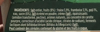 Activia au bifidus - Ingrediënten