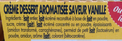 Danette Saveur vanille - Ingrediënten - fr