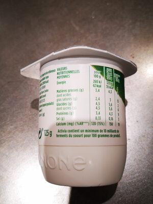 Activia bifidus bio - Ingrediënten