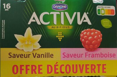 Activia vanille framboise - Produto - fr