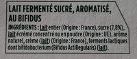 Activia vanille framboise - Ingredientes - fr