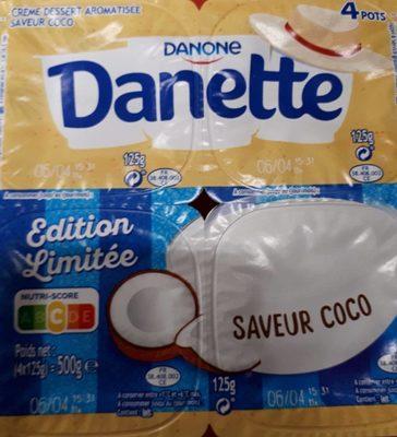 Danette saveur coco - Produit