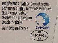 Le Petit Frais - Ingrédients - fr