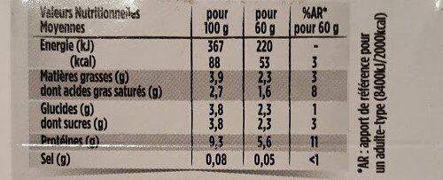 Le Petit Frais - Informations nutritionnelles - fr