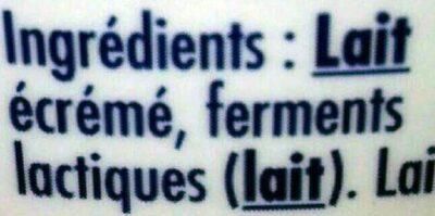 Skyr - Ingrédients
