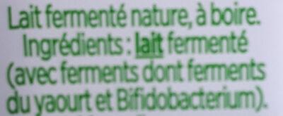 Shot probiotique - Ingredients