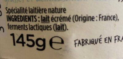 Skyr Nature - Ingredients - fr