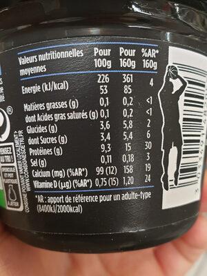 Hipro myrtille - Voedingswaarden - fr