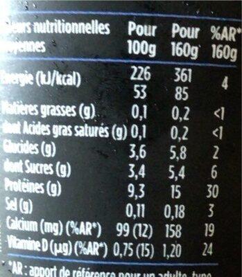 Hipro myrtille - Nutrition facts - fr