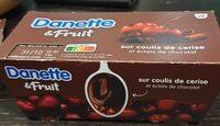Danette et fruit sur coulis de cerise - Produit - fr