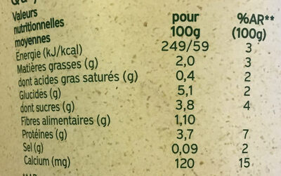 Flocons d'avoine myrtille-açaï - Voedingswaarden - fr
