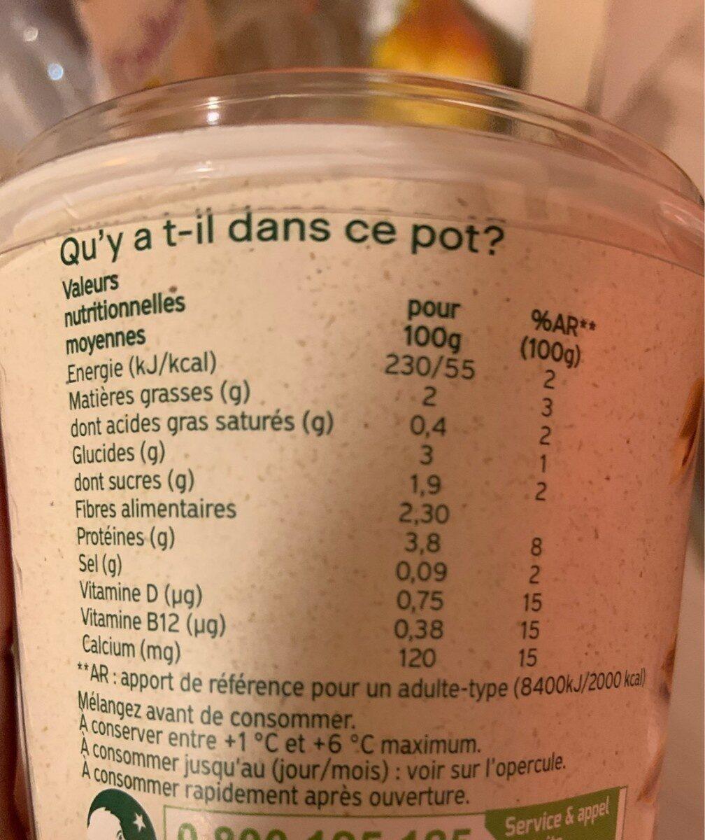 Flocons d'avoine - Valori nutrizionali - fr