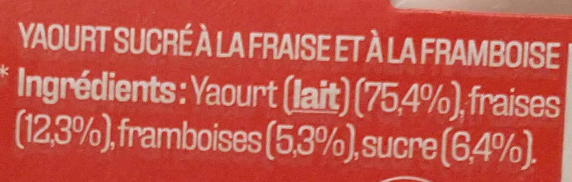 Danone aux fruits d'ici - Ingredienti - fr