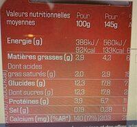 Danone aux fruits d'ici - Valori nutrizionali - fr