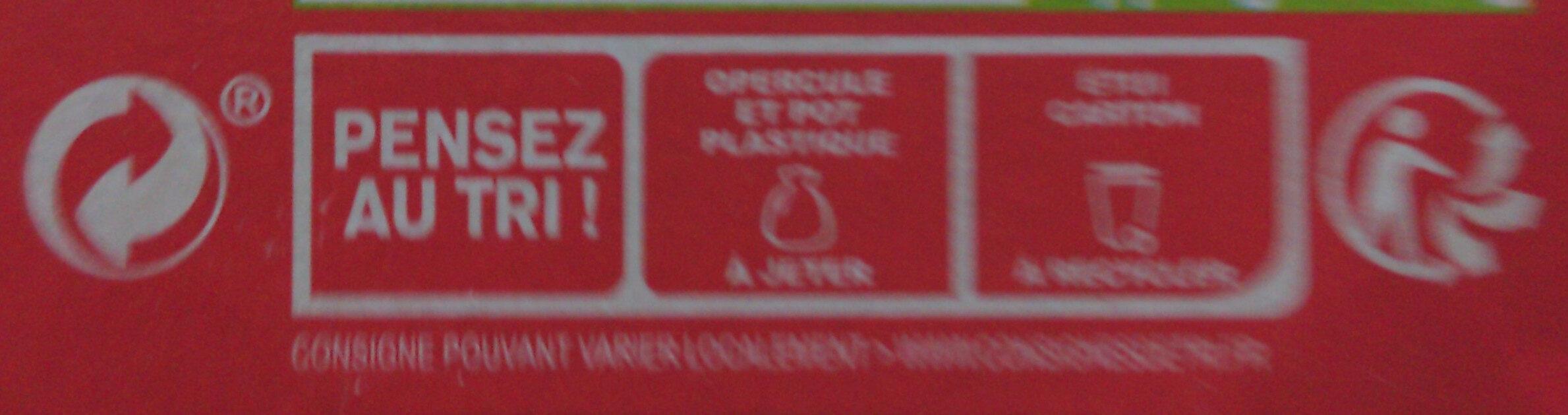 Danone aux fruits d'ici - Istruzioni per il riciclaggio e/o informazioni sull'imballaggio - fr