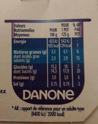 Recette crémeuse 8 x 125 g - Valori nutrizionali - fr