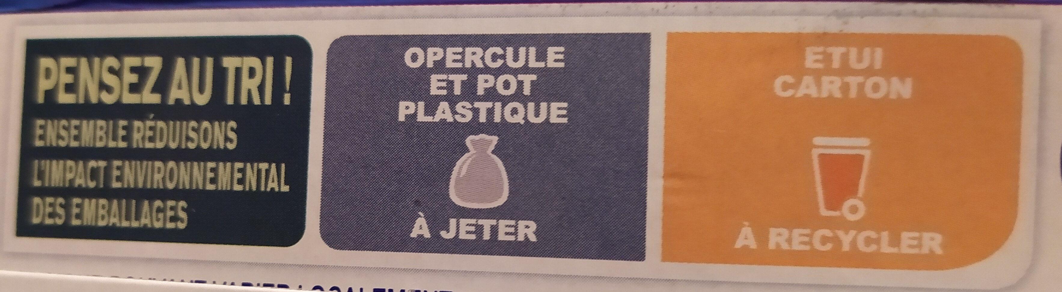 Recette crémeuse 8 x 125 g - Istruzioni per il riciclaggio e/o informazioni sull'imballaggio - fr