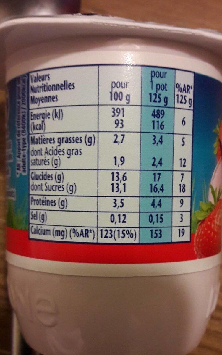 Velouté Fruix Fraise - Valori nutrizionali - fr