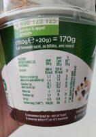 Activia mix&go - Nutrition facts - fr