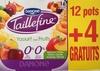 Taillefine, Yaourt au Fruits (0 % MG, 0 % Sucres Ajoutés) - (Abricot, Fraise, Citron, Cerise, Ananas, Pêche) 12 Pots   4 Gratuits - Product