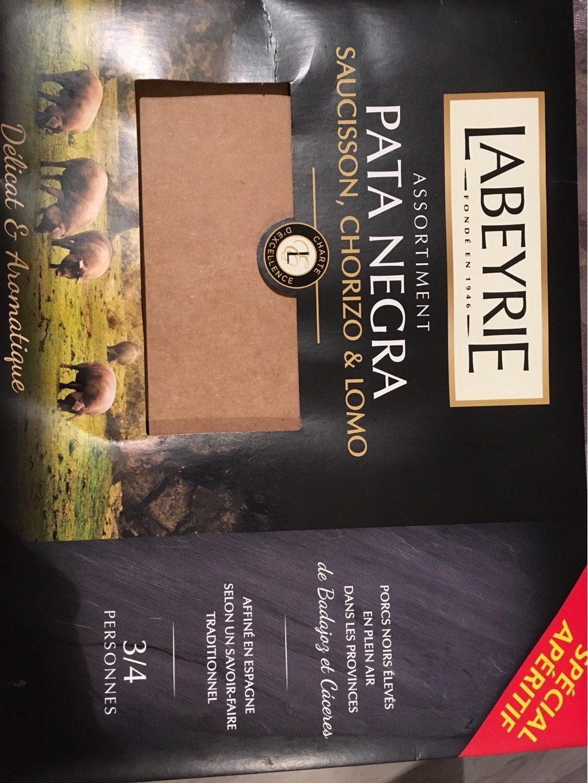 Assortiment Pata Negra(saucisson, chorizo,lomo - Produit