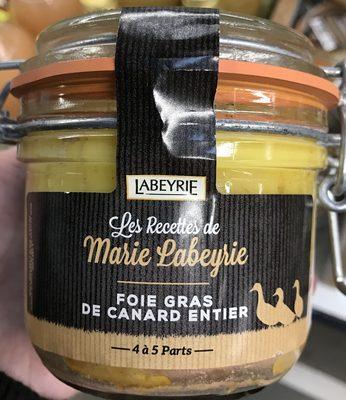 Les recettes de Marie Labeyrie Foie gras de canard entier - Produit - fr