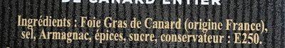 Les recettes de Marie Labeyrie Foie gras de canard entier - Ingrédients - fr