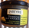 Terrine de canard pistache & poivre vert - Produit