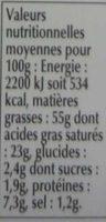 Foie Gras Qualité Traiteur - Voedingswaarden - fr