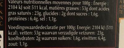 Bloc de foie gras de canard Labeyrie - Nutrition facts - fr