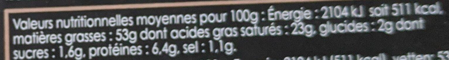 Bloc de foie gras de canard du sud ouest avec morceaux au sauternes - Voedingswaarden - fr
