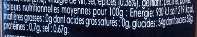 Chutney d'abricots façon Pain d'Epices - Voedingswaarden - fr