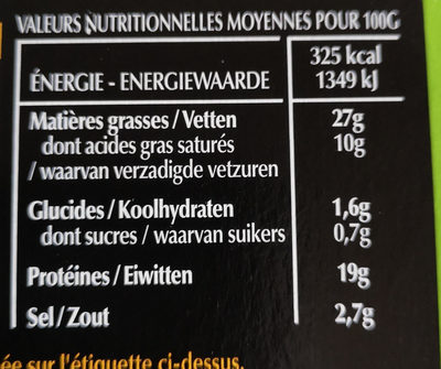 Magret canard fumé Labeyrie - Informations nutritionnelles - fr