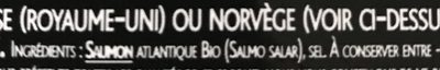 Saumon Fumé Bio - Ingrediënten - fr