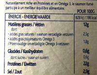 Saumon Fumé Bio - Voedingswaarden - fr