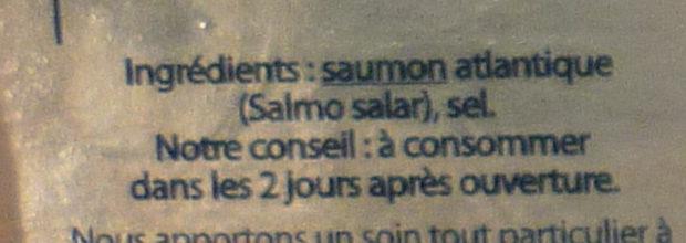 Saumon Fumé l'Écosse - Ingrediënten - fr
