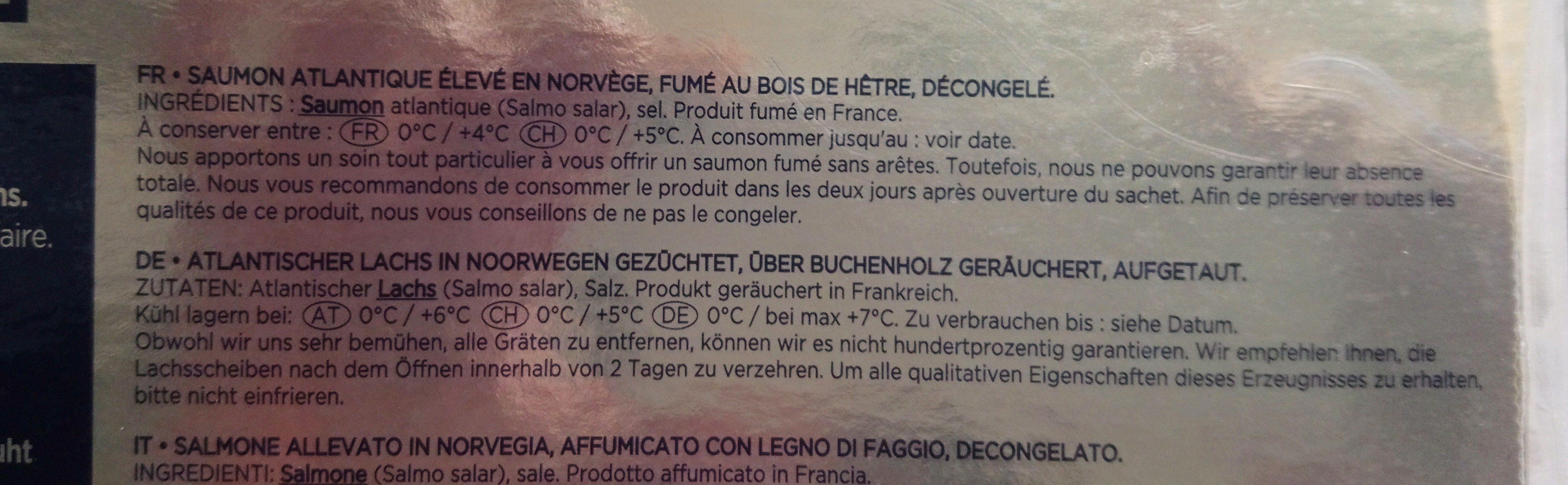 Saumon Labeyrie - Ingrédients