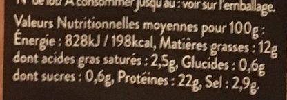 Saumon de Norvège Fumé - Voedingswaarden - fr