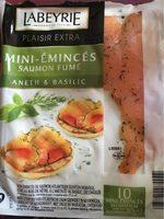 Mini Émincés de saumon fumé aneth & basilic - Produit - fr