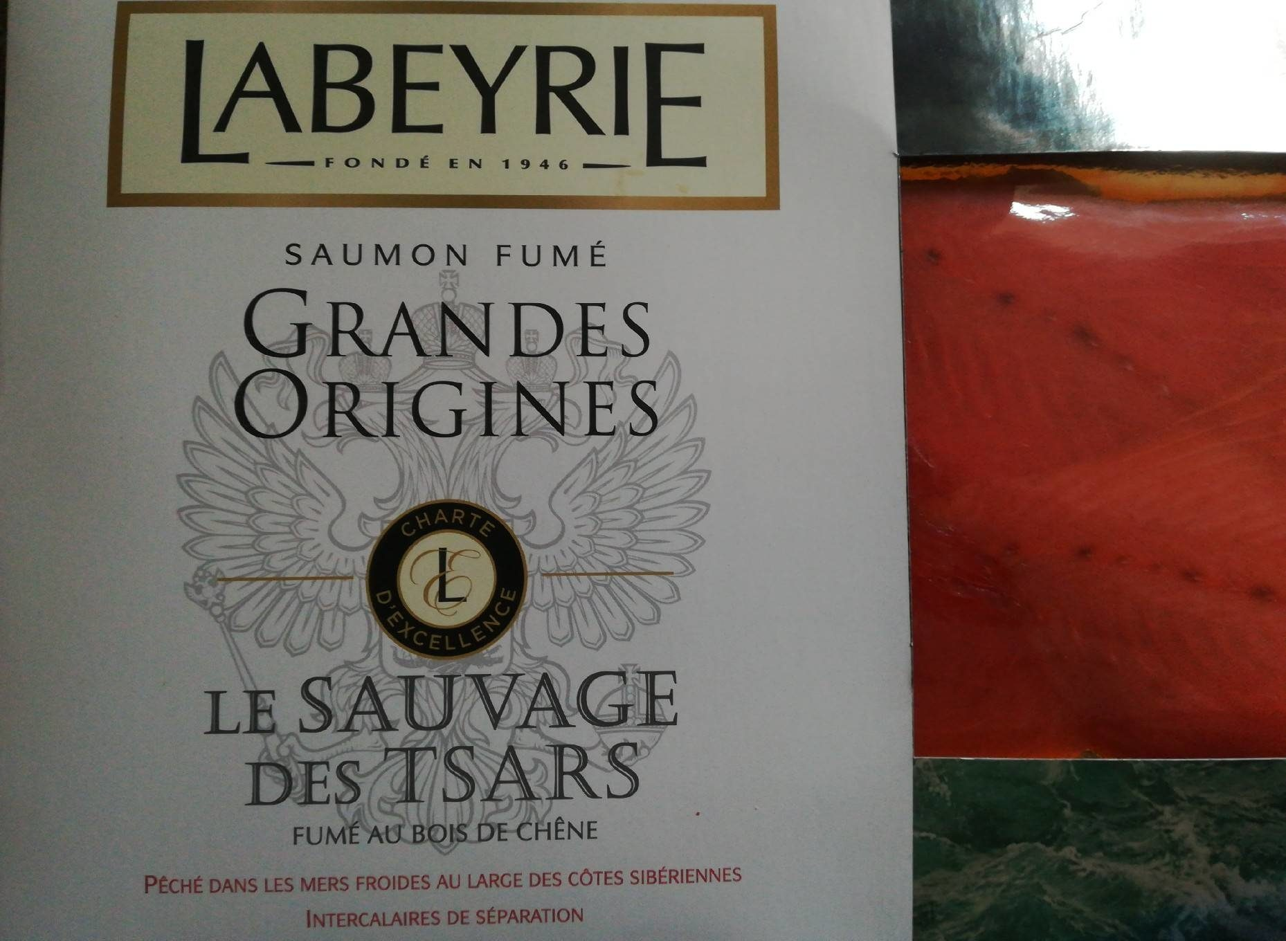 Saumon fumé grandes origines - Produit - fr