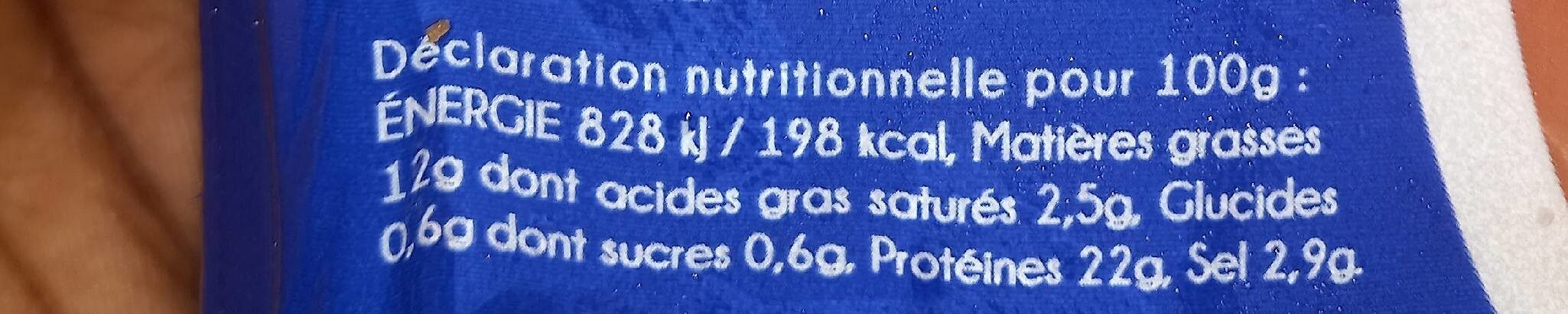 Saumon Fumé Fish Aven - Informations nutritionnelles - fr