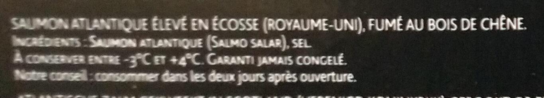 Saumon fumé d'Ecosse - Ingrediënten