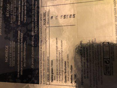 Saumon Fumé d'écosse - Ingredients - fr