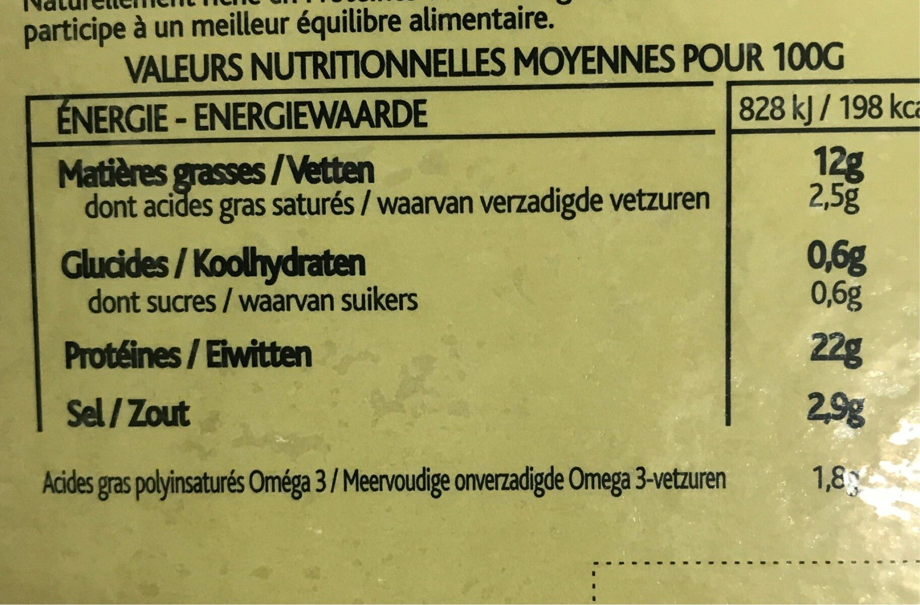 Saumon fume d'ecosse 4 tranches 140g labeyrie - Nutrition facts - fr