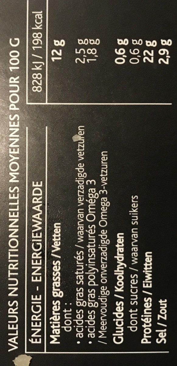 Saumon fumé des Higlands d'Ecosse, fumé au bois de chêne - Ingrédients - fr