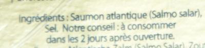 Saumon fumé boisé - Ingredients - fr